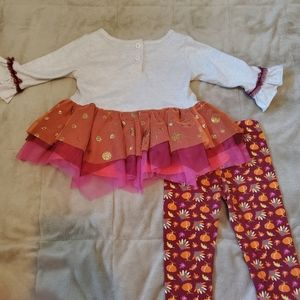Little Lass Matching Sets - 🎃🦃Cute 2pc Thanksgiving outfit. Size 12m🦃🎃